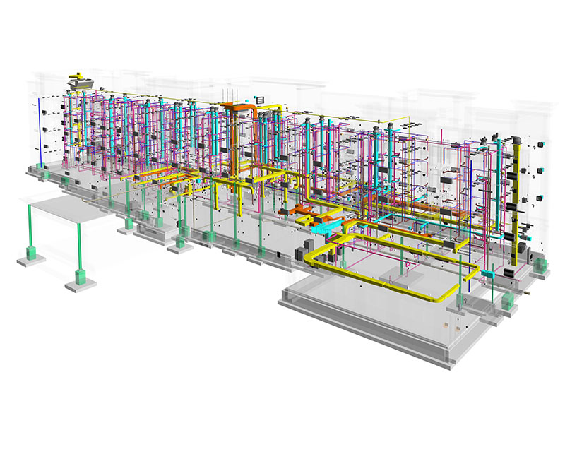 Image of BIM MEP service for Hospitality-hotel project- Revit MEP drafting services