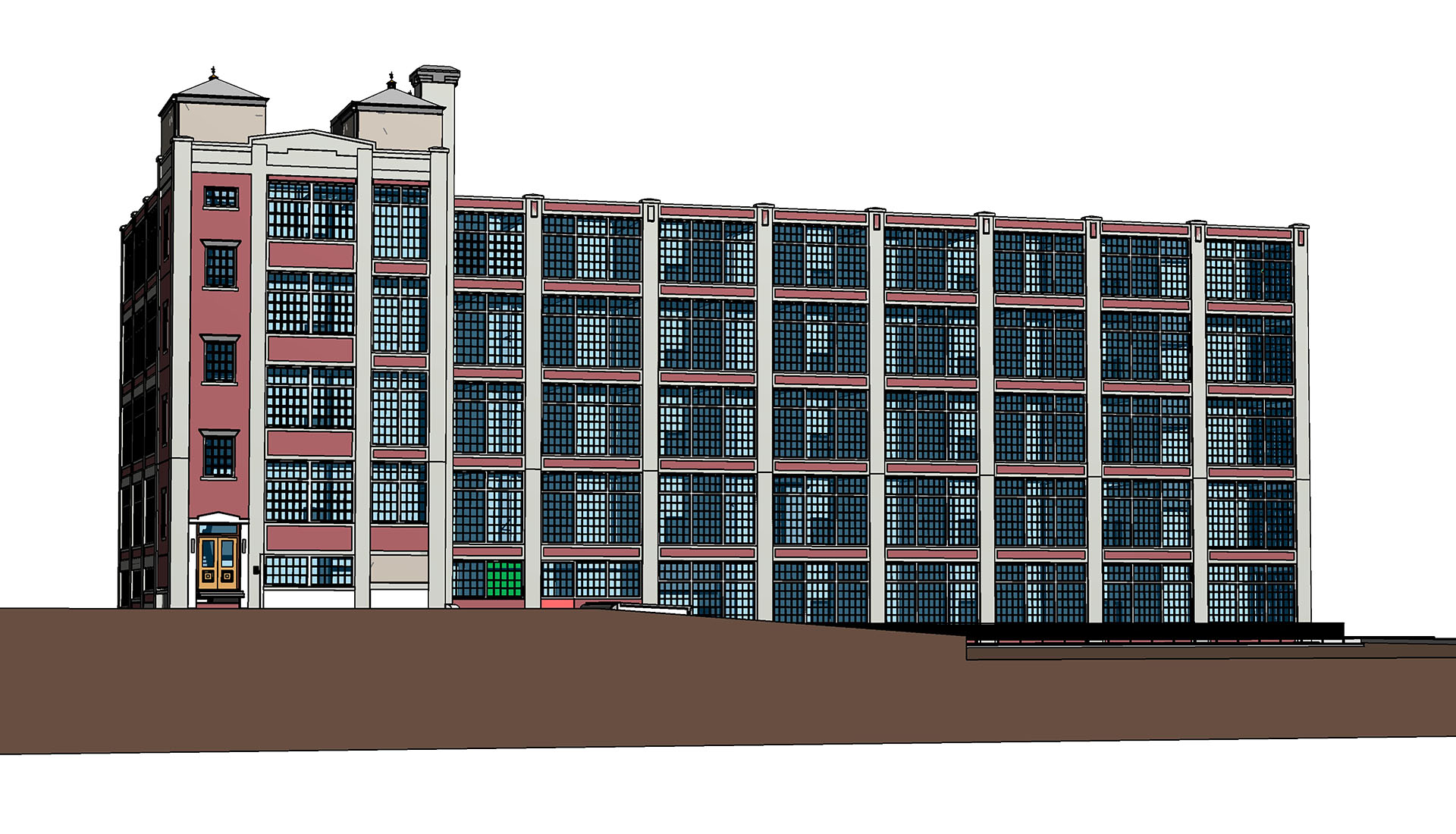 Hospitality-Aloft Hotel- Architecture modeling-Elevation