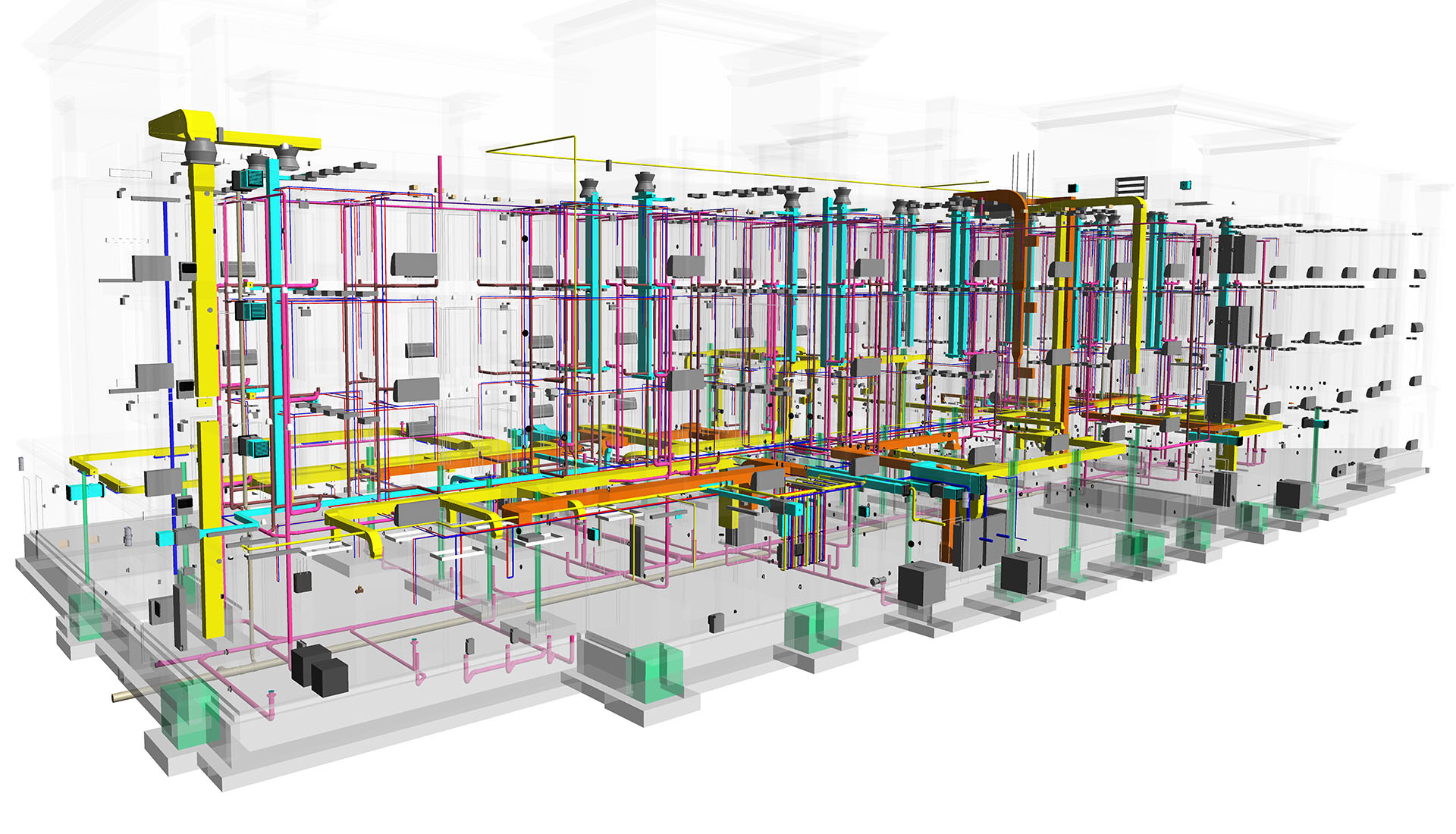Image of BIM MEP Modeling of a Hospitality project- Hampton Inn
