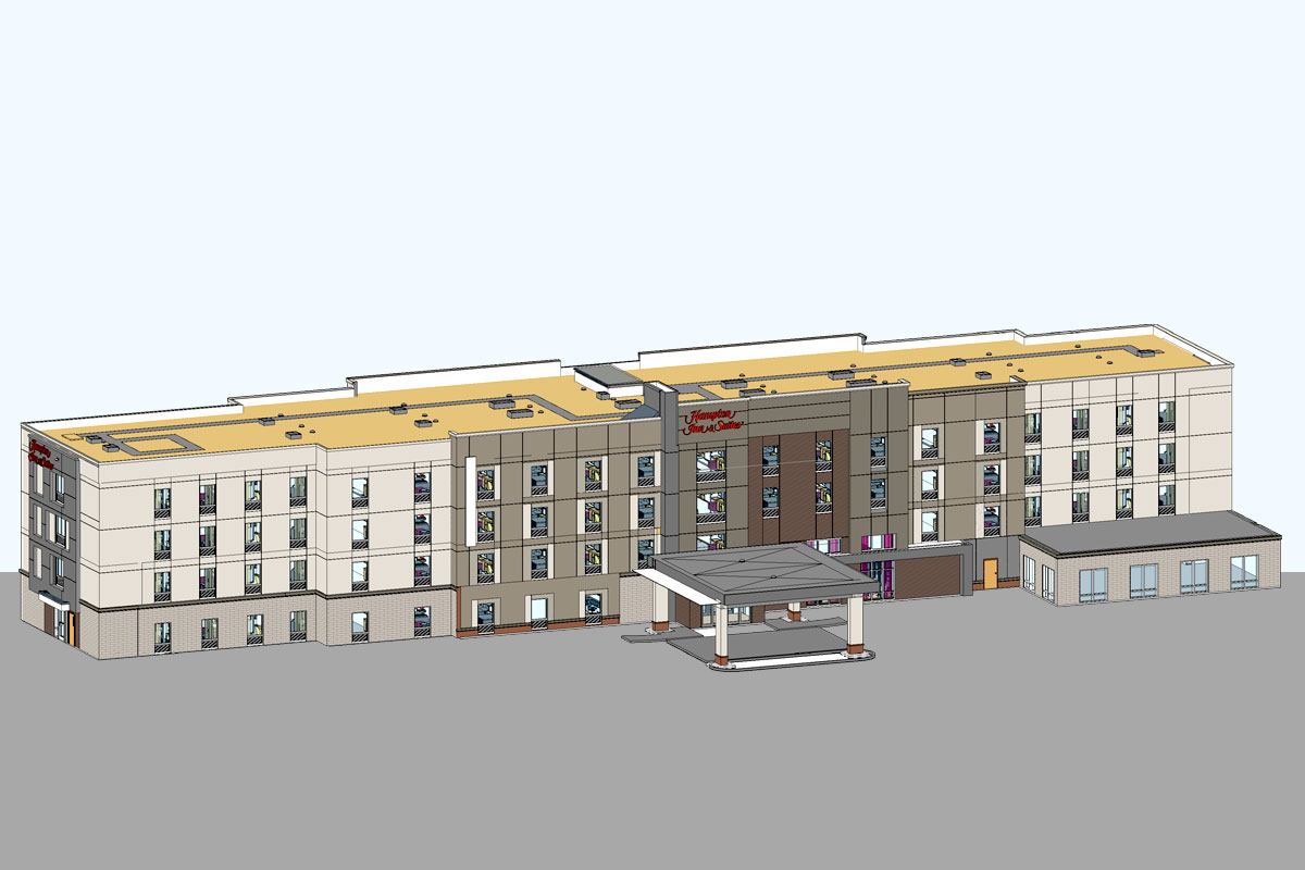 Hampton-Inn-and-Suites-Architectural-Modeling-Services-by-United-BIM