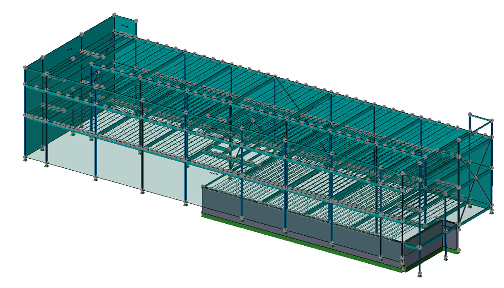 Image of BIM Structural modeling of Buckland- Commons