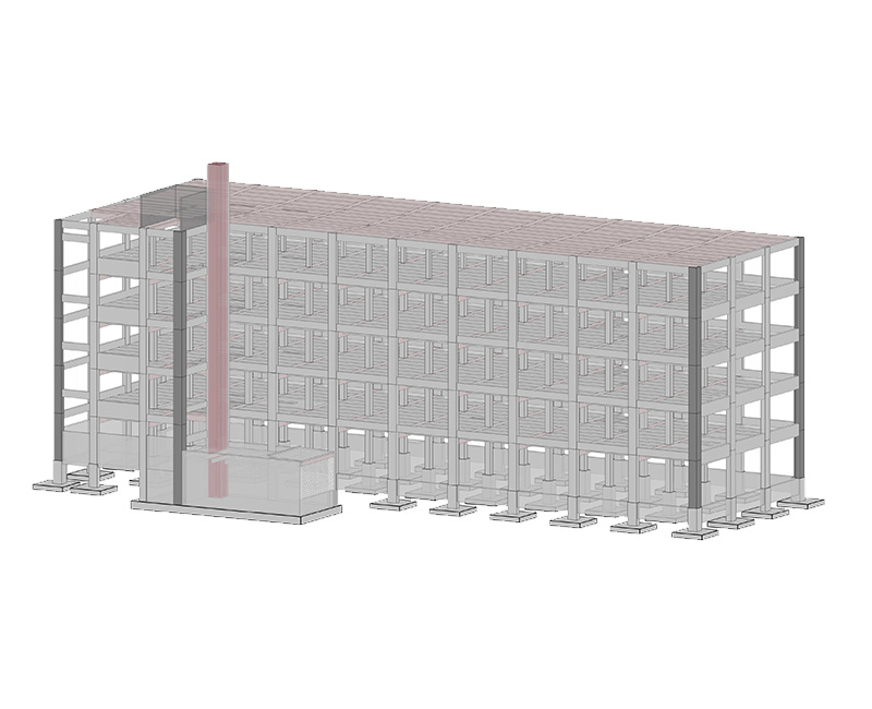 Image of BIM Structural modeling of Extra space storage facility