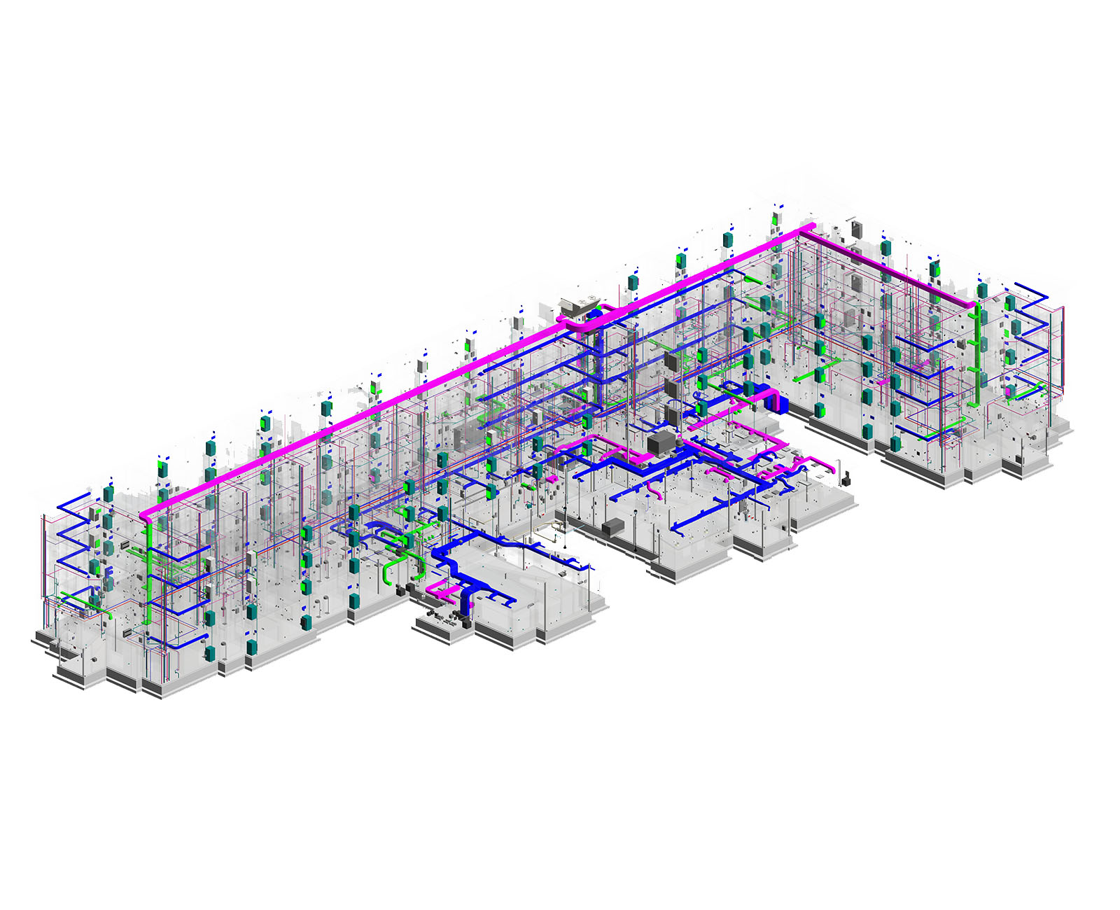 Image of BIM MEP modeling of hotel- Residence Inn- Revit MEP drafting services
