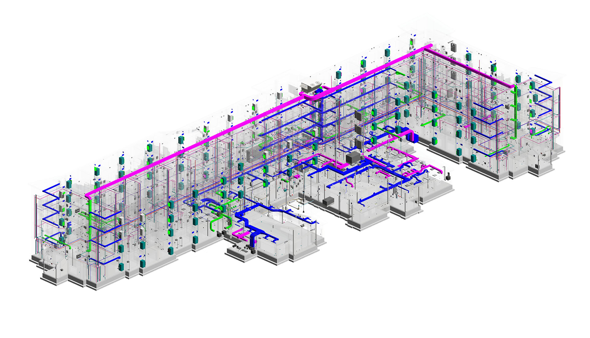 Image of BIM MEP modeling of hotel- Residence Inn representing benefits of BIM