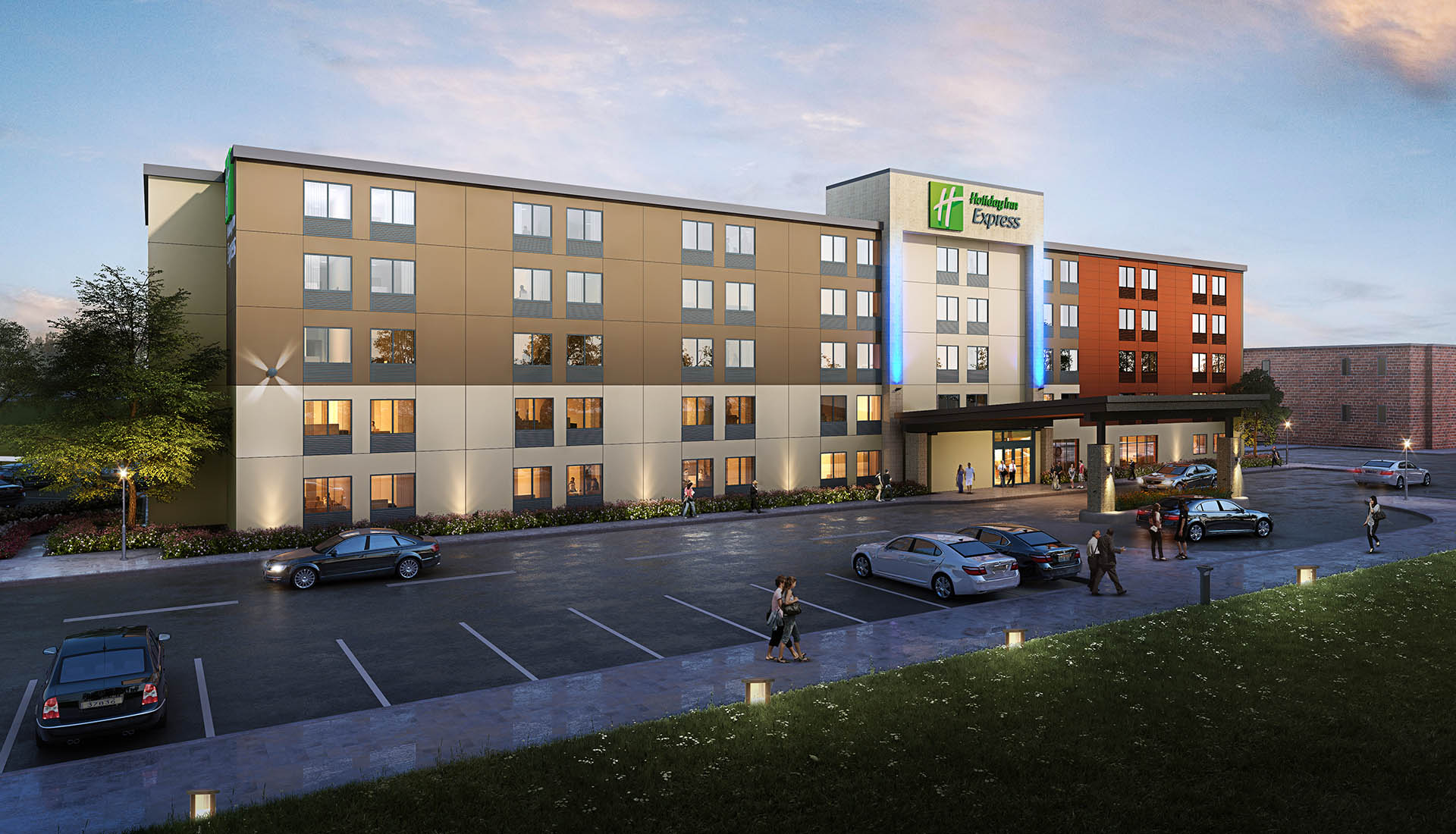 Holiday Inn Express- 3D rendering
