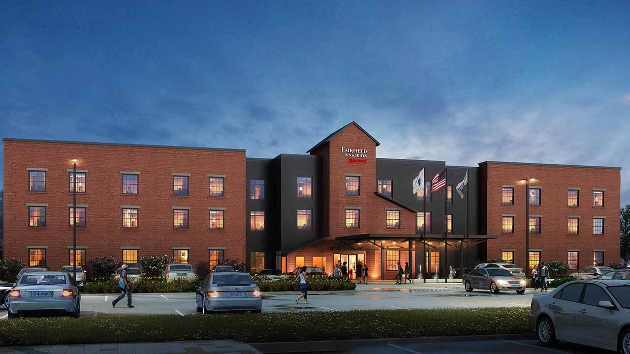 Image of Rendering of Fairfield Inn-BIM modeling services