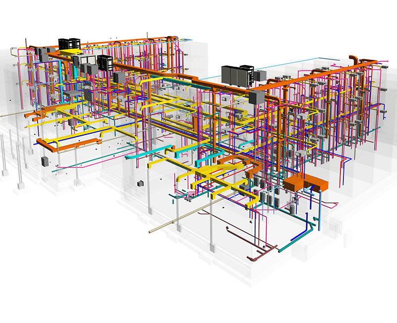 MEP Coordination of Mechanical- Electrical and Plumbing model- Hotel project by United-BIM