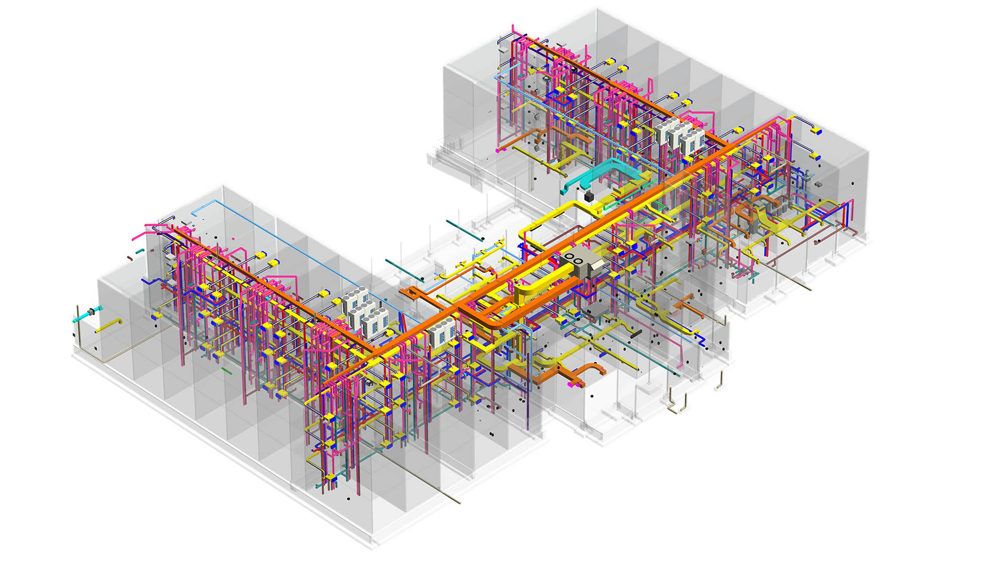 MEP Coordination of Mechanical- Electrical, Plumbing and structural model- Hotel project by United-BIM