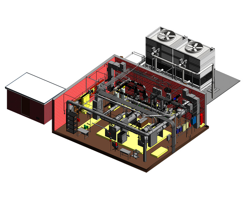 BIM Model of Mechanical Room Project by United-BIM