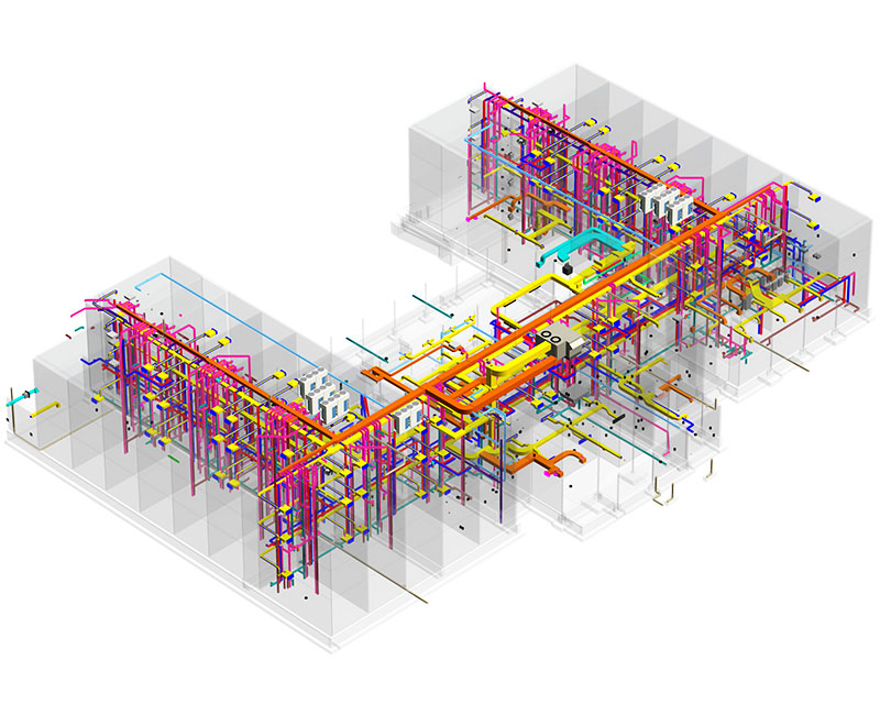 MEP modeling and coordination services for new hotel projectby United-BIM