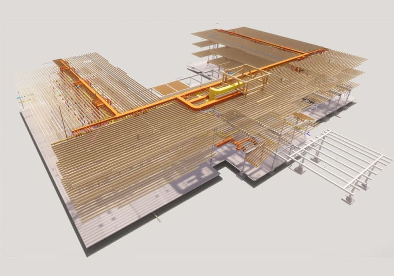 3D structural BIM model-BIM-implementation-during-hotel-construction-project- Structural modeling by United-BIM
