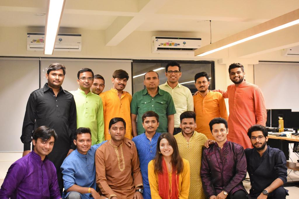 Diwali Celebration at India Office- Team in Traditional Attire- Life at United-BIM