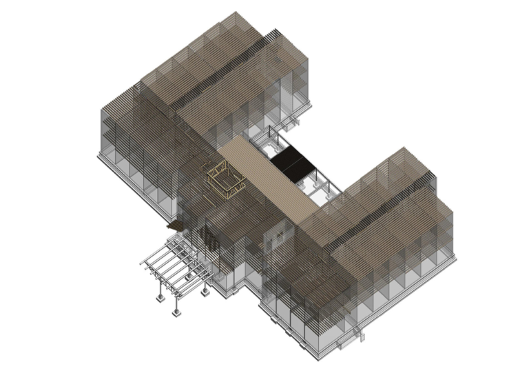 3D Structural BIM Model of a fairfield Inn and Suites hotel- Structural Modeling during BIM implementation during hotel construction project