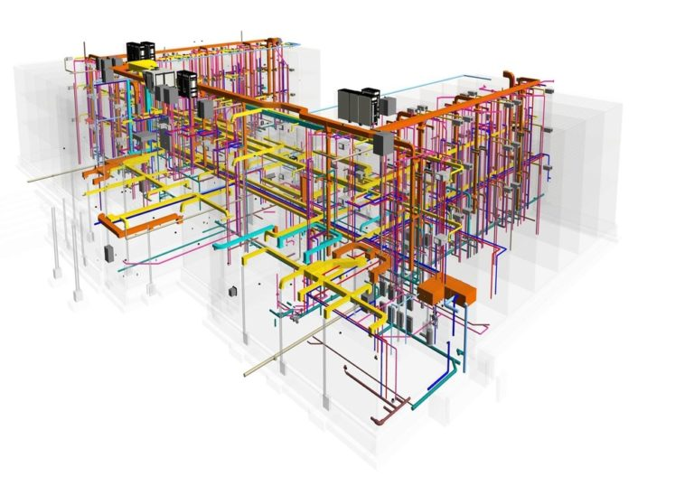 MEP Coordination of Mechanical- Electrical, Plumbing and structural model- BIM Implementation during hotel construction project by United-BIM