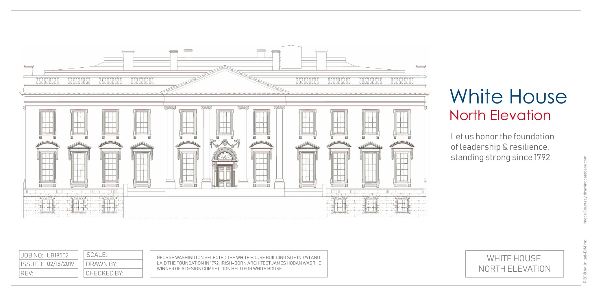 The White House- North Elevation