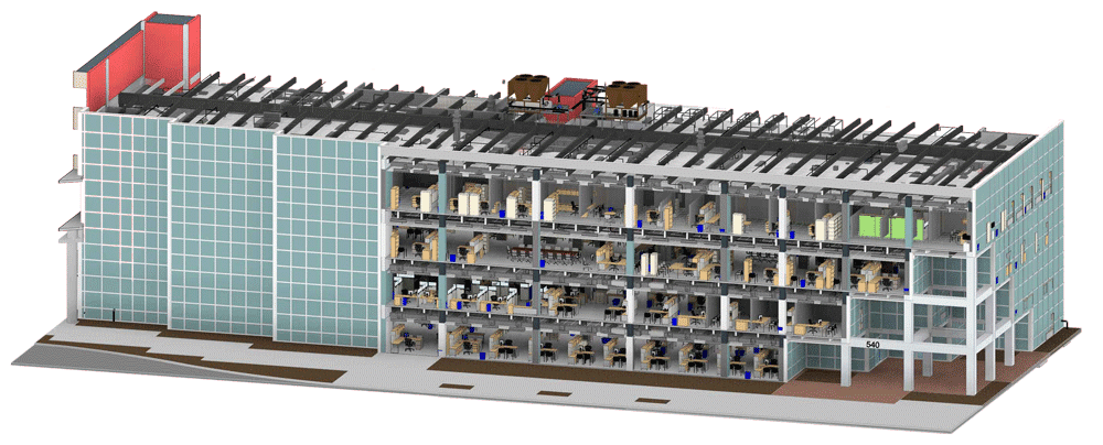 3D-Modeling-Architectural section- BIM Adoption during Construction