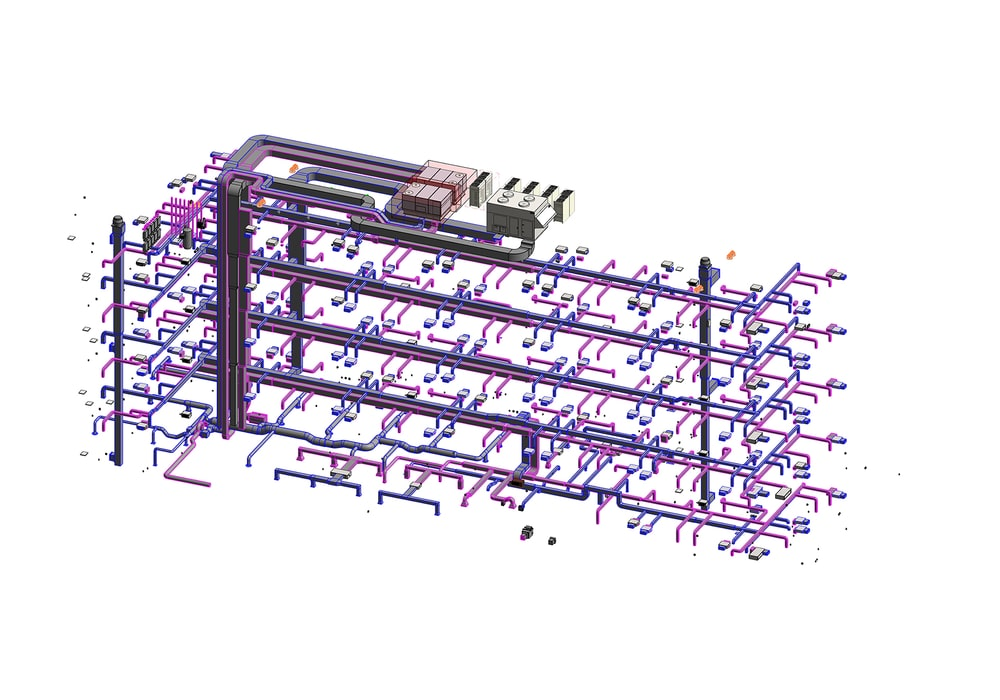 MEP BIM Modeling and Coordination Services in New York by United-BIM Inc.