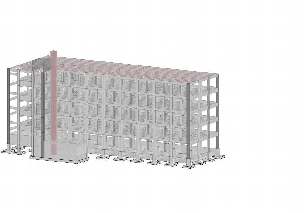 Boston hotel- structural modeling