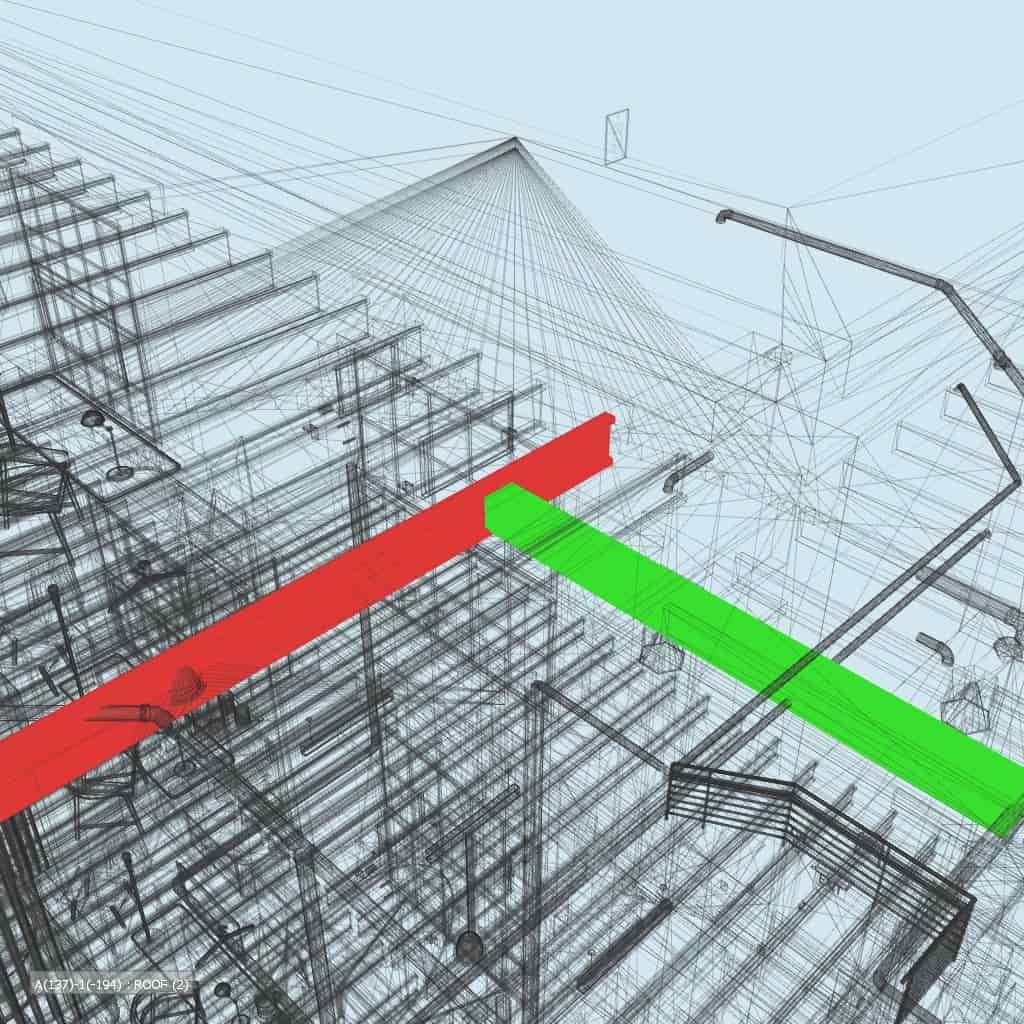 Clash detection for hotel project of structural and MEP