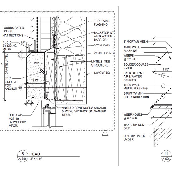 Construction Document- Section drawing-BIM Architectural modeling by United-BIM