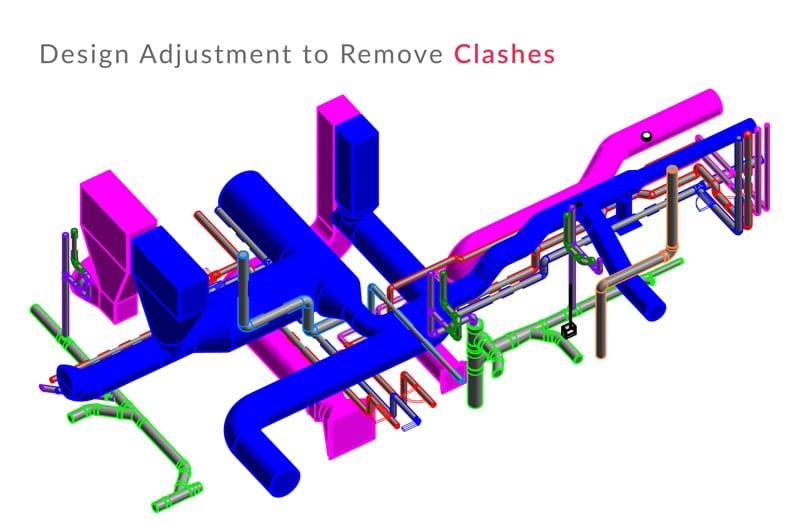Design Adjustment to Remove Clashes