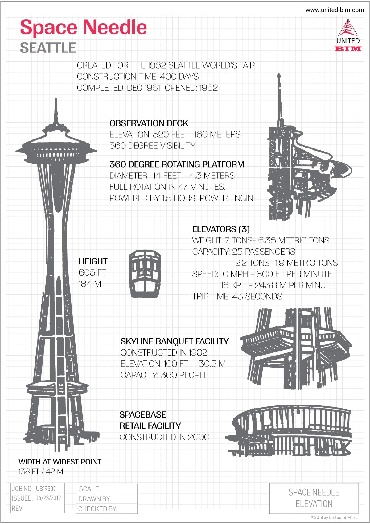 Space Needle Elevation