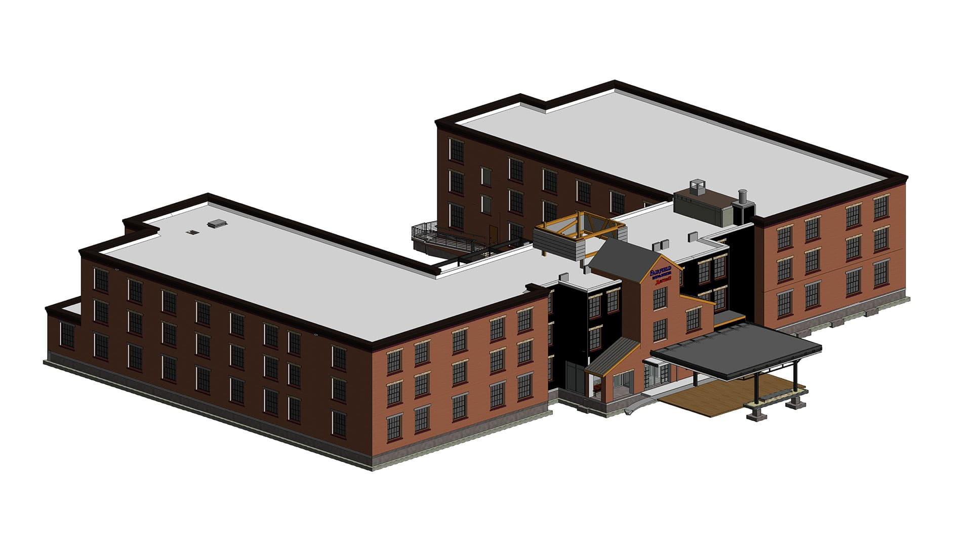 3D-Revit-architectural-model-of-red-brick-hotel-building-project-modeled-by-United-BIM