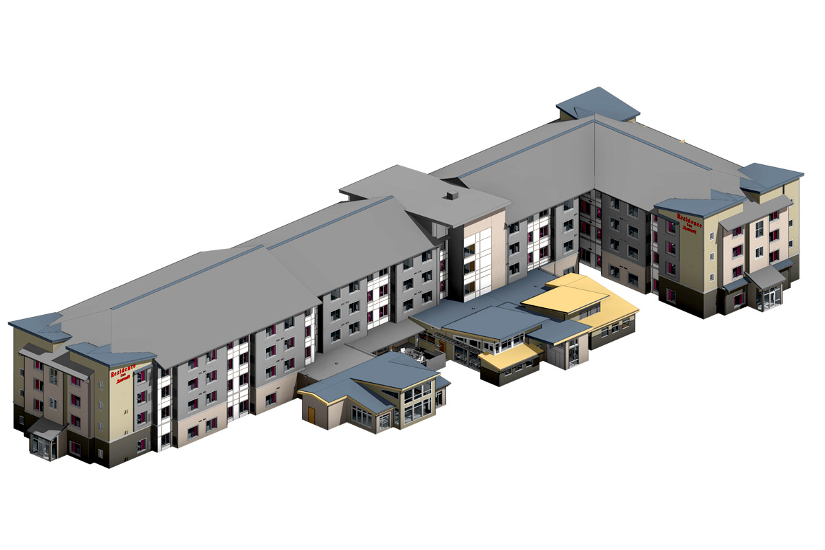Residence-Inn-Architectural-Modeling-Services-by-United-BIM