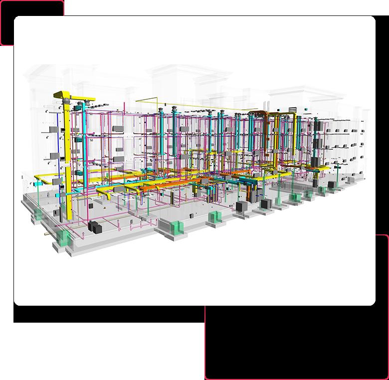 3D Revit MEP Model of Hotel Bilding- BIM-MEP-Modeling-Services-Drafting-Outsourcing-Company