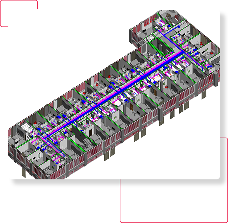 3D Revit Mechanical/ HVAC Section- BIM-MEP-Modeling-Services-Drafting-Outsourcing-Company