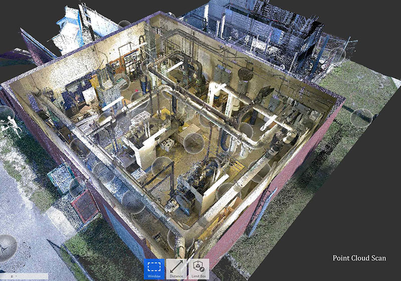 Point-Cloud-of-Mechanical-Room-Scan-to-BIM-Modeling