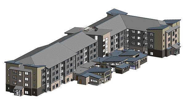 Residence-Inn-3D-Architectural-Model- BIM Modeling Services by United-BIM