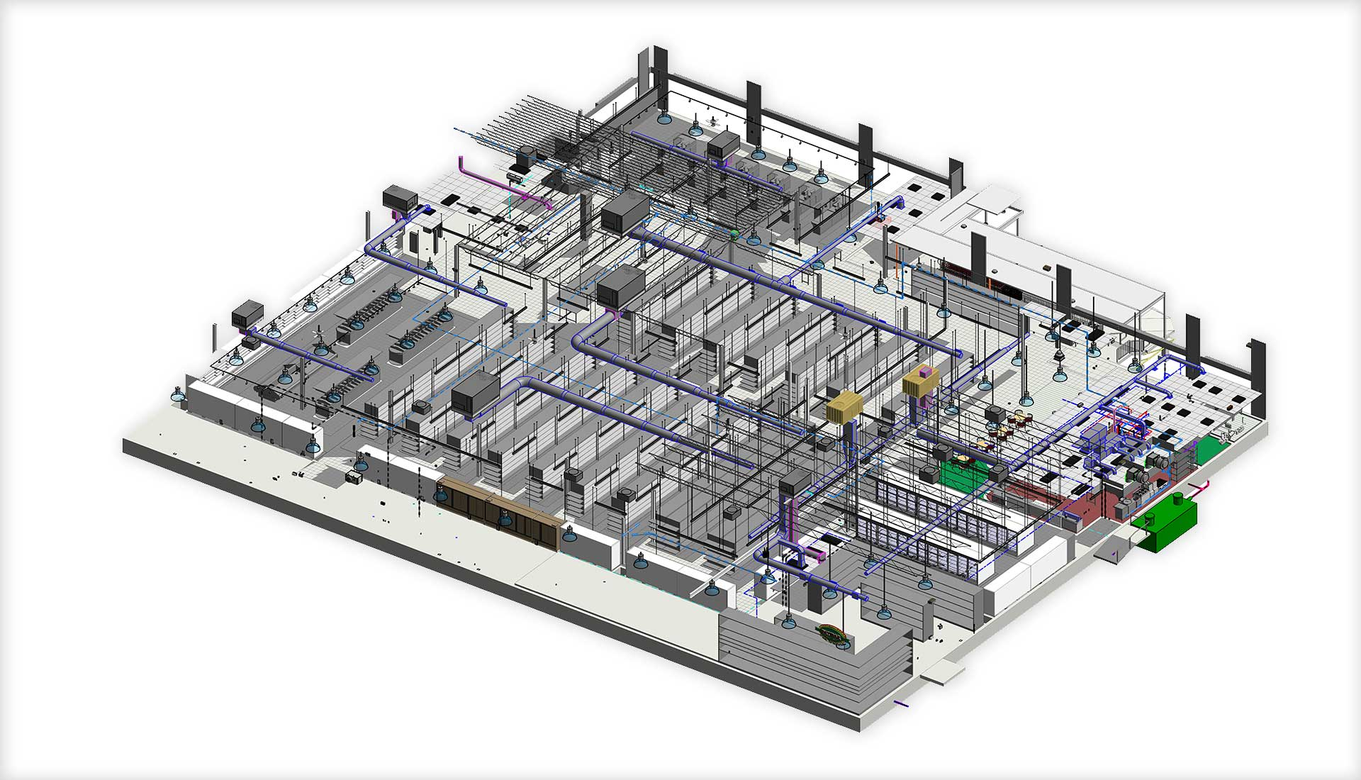 3D-Revit-architectural--MEP-design-model-of-a-retail-store-Drafting Outsourcing partner-United-BIM