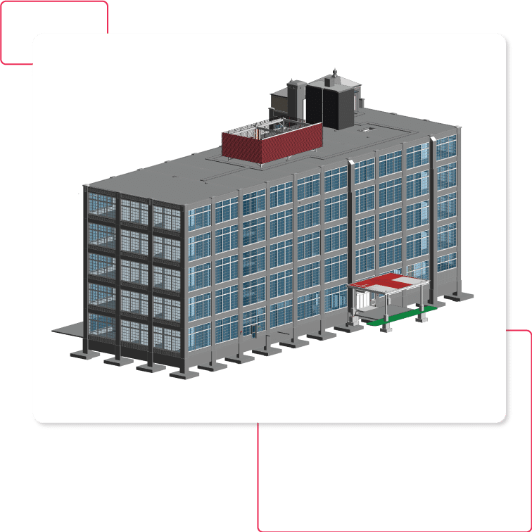 Architectural-BIM model-of-hospitality-project-Revit-BIM-Modeling services by United-BIM