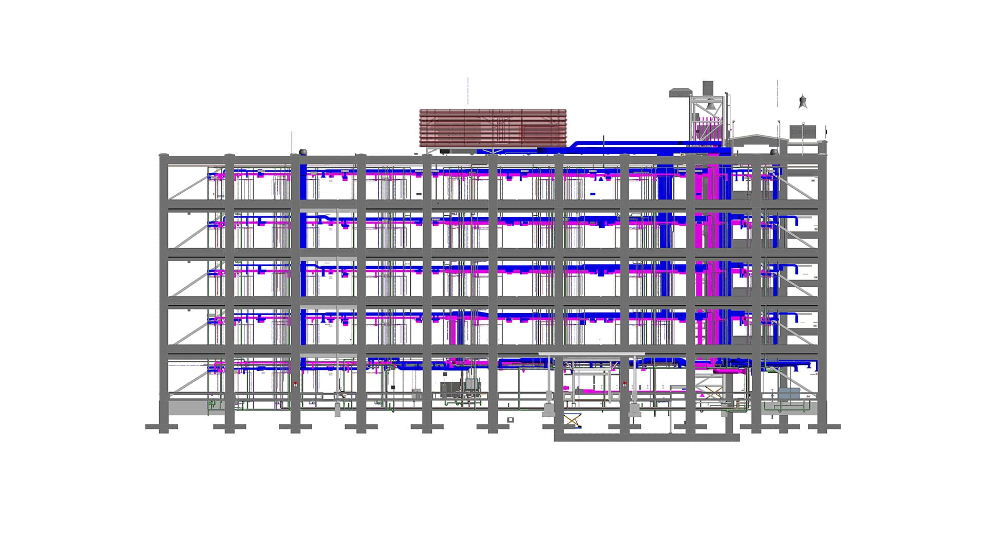 Structural-Model-with-integrated-MEP-designs--Hotel-Project-BIM-Modeling-Services-by-United-BIM-1
