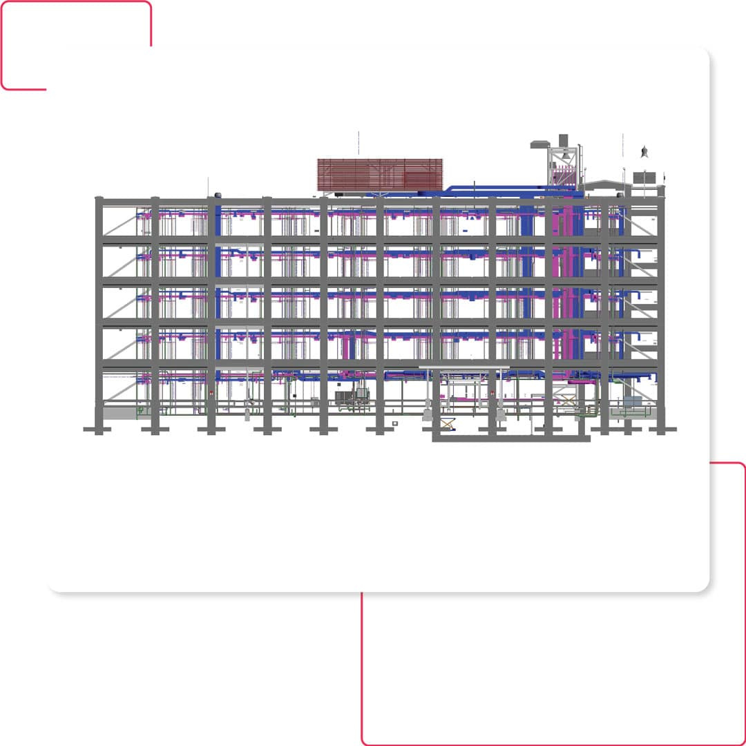 Structural Model with integrated MEP design-Hotel project-BIM Modeling Services by United-BIM
