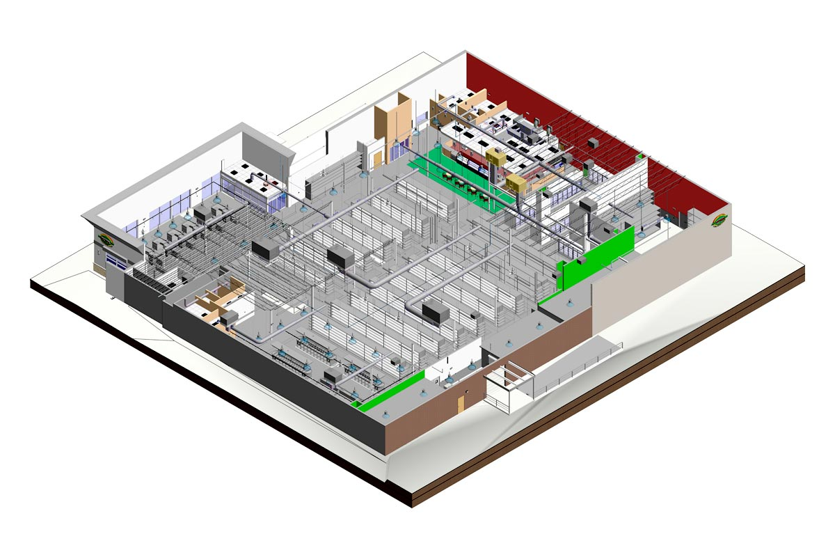 Section-View-Patidar-House-Architectural-Modeling-Services-by-United-BIM