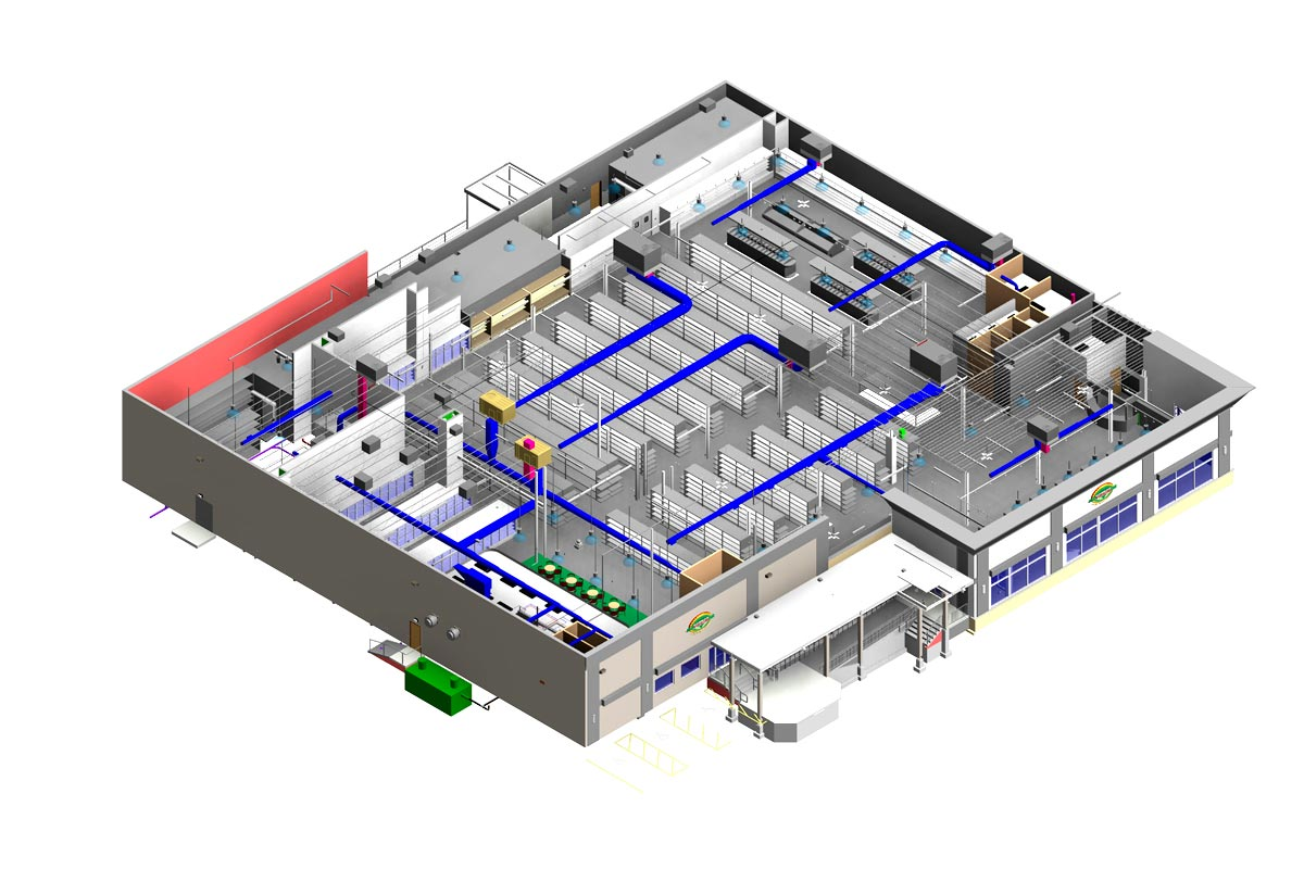 Section-View-Patidar-House-MEPFP-Modeling-Services-by-United-BIM_