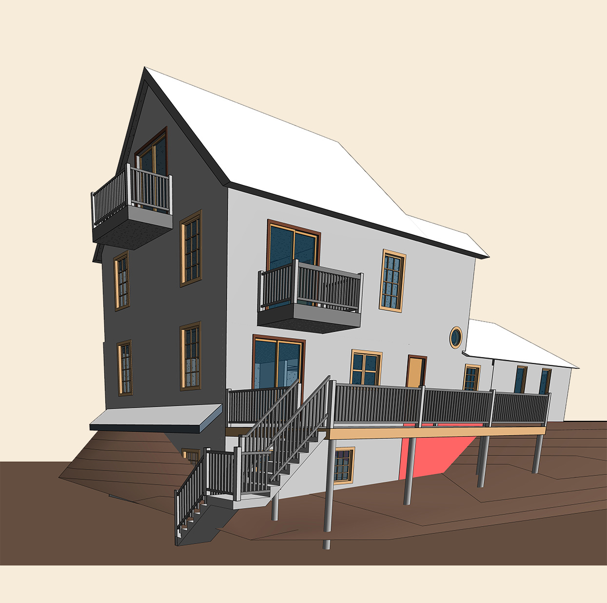 3D-Architectural-Model-of-2-Story-House_Residential-Project-by-United-BIM