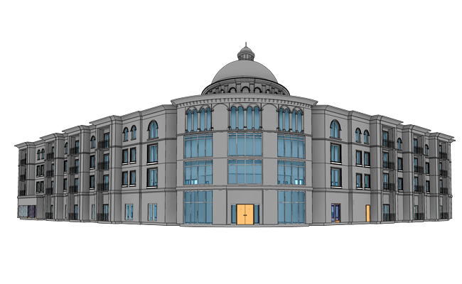3D-Architectural-Model-of-Restaurant-Building-Project-Modeling-by-United-BIM 650x400