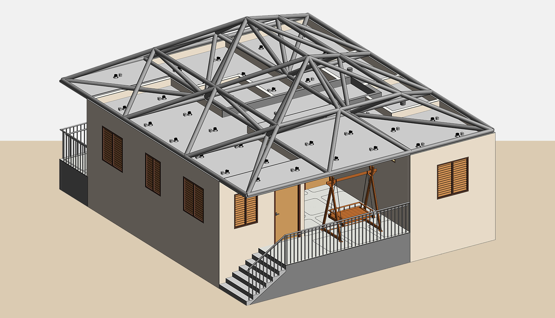 3D-Revit-Model_Roof-Structure-with-Architectural-Model of-Home_Residential-Project-by-United-BIM