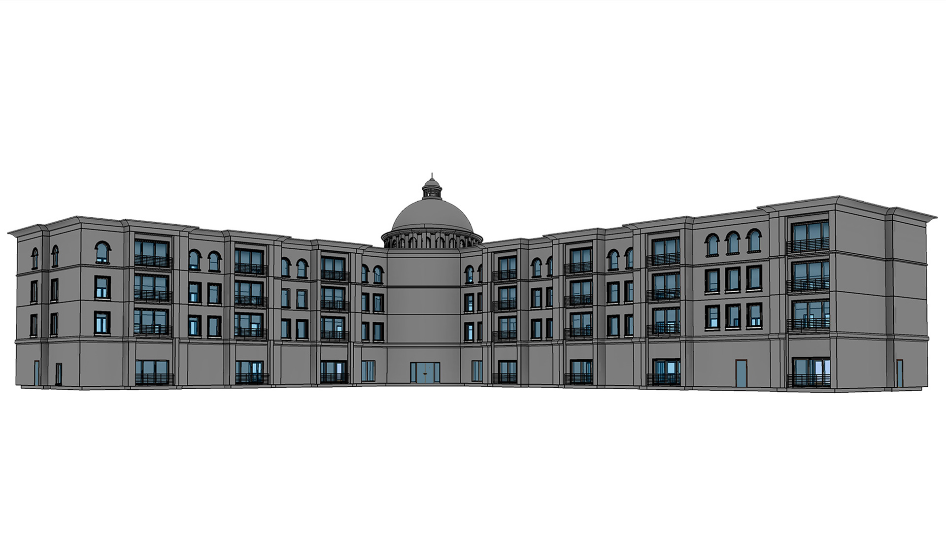 3D-architectural-model-of-hotel-building-project-Revit-Modeling-by-United-BIM-2