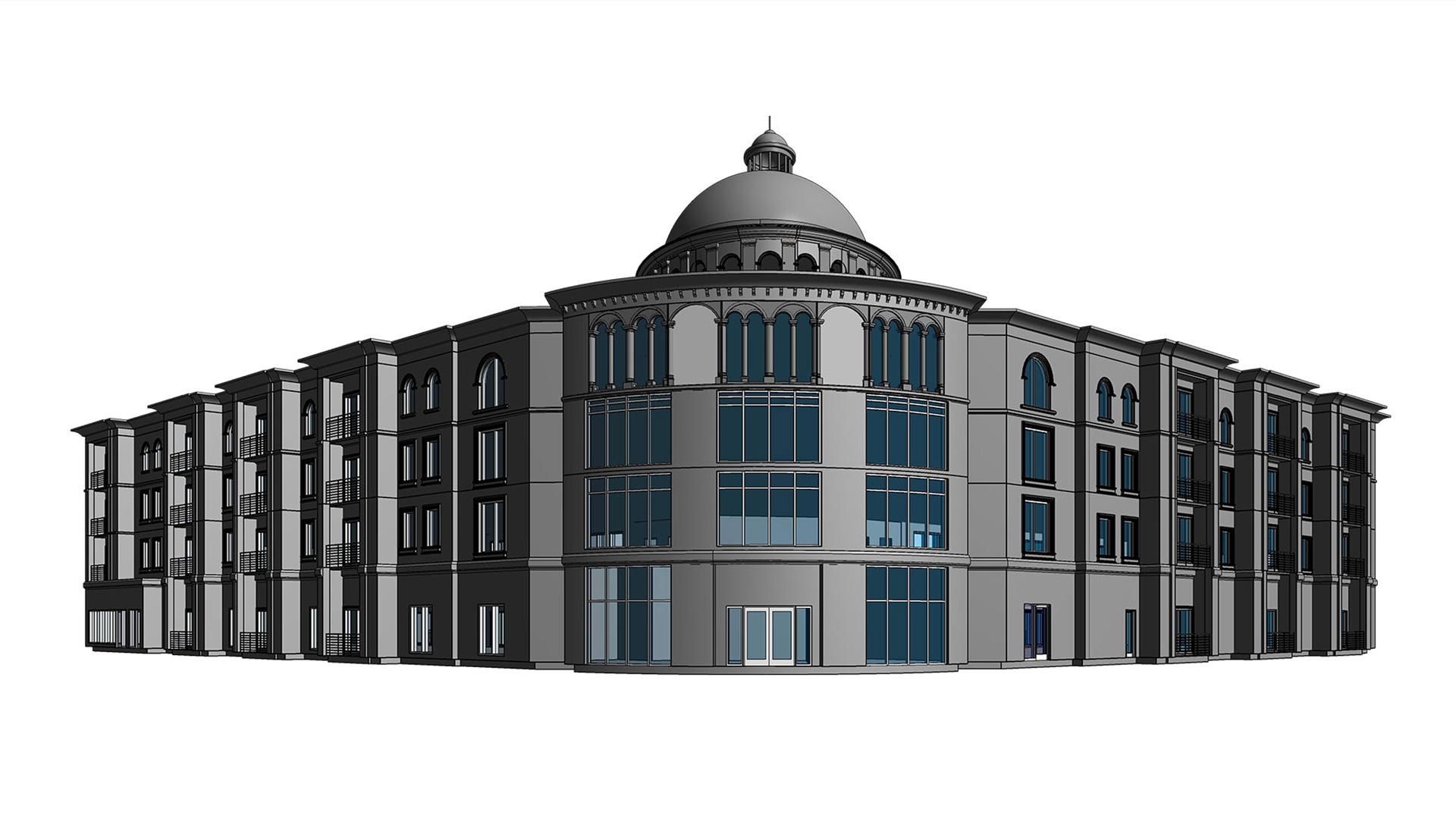 3D-architectural-model-of-hotel-building-project_Revit-Modeling-by-United-BIM