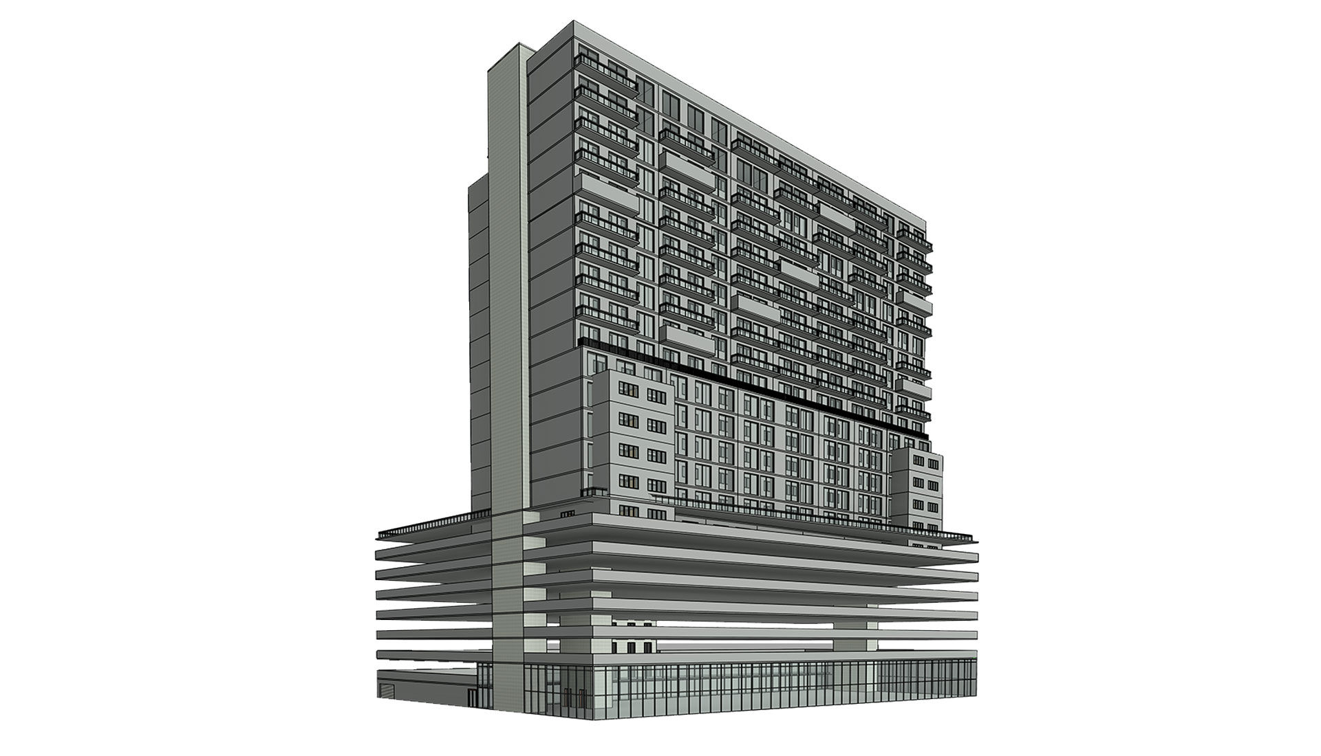 Architectural-3D-Revit-Model_Multi-Story-Retail-Project-by-United-BIM