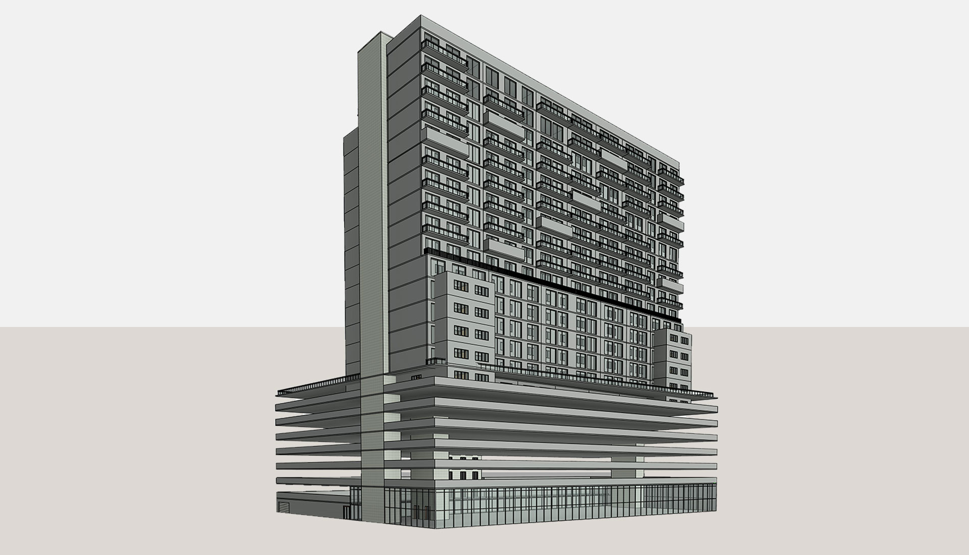 Architectural-3D-Revit-Model_Multi-Story-Retail-Project_BIM-Modeling-by-United-BIM