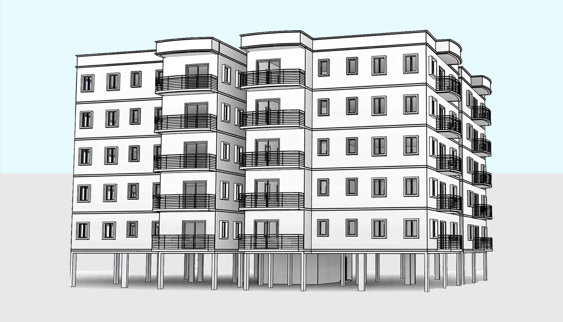 Architectural-Model_Residential-Apartment-Flats_Revit-Modeling-Project