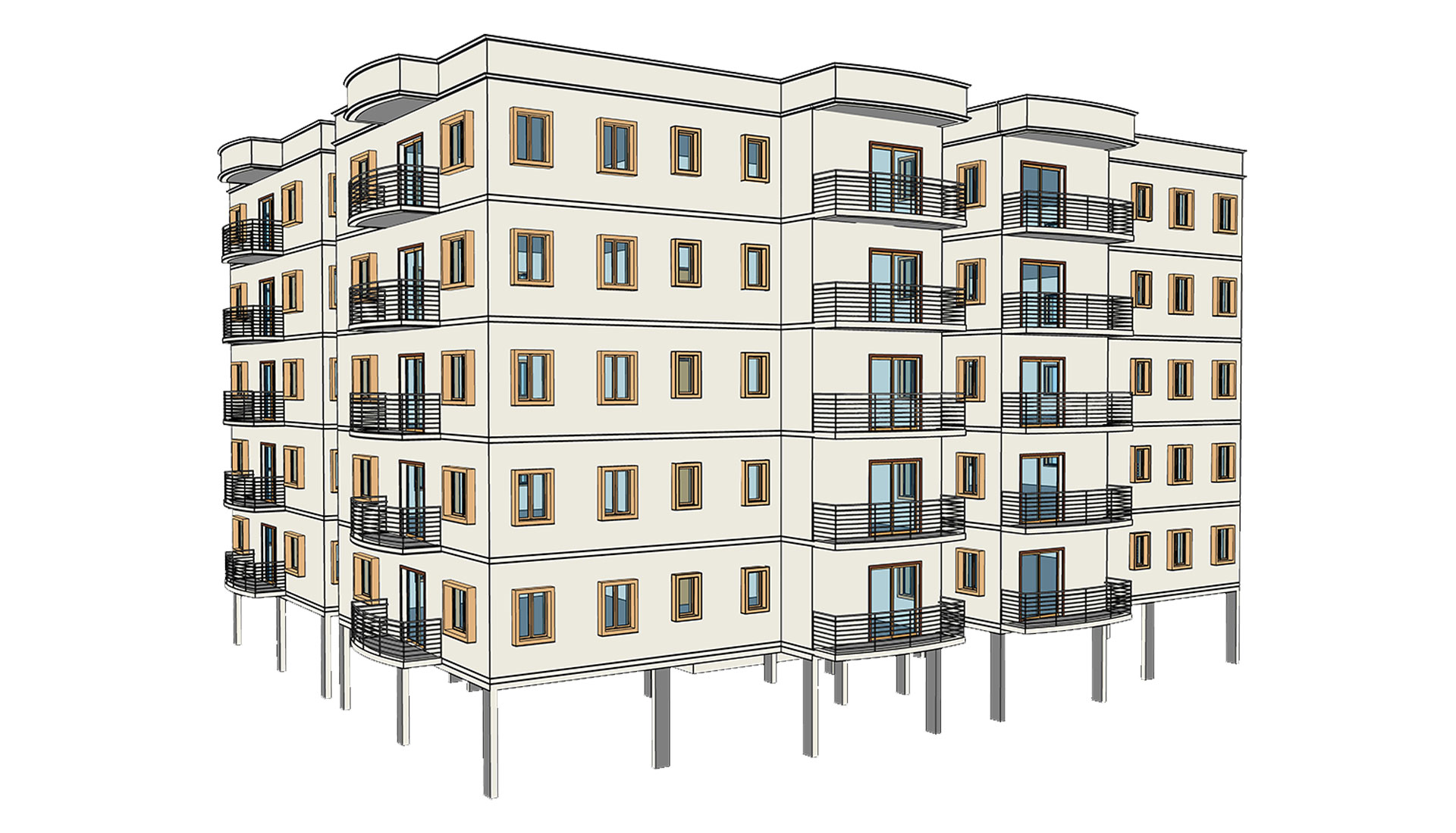 Architectural-Revit-Model_Multi-Residential-Apartments_BIM-Modeling-Project-by-United-BIM