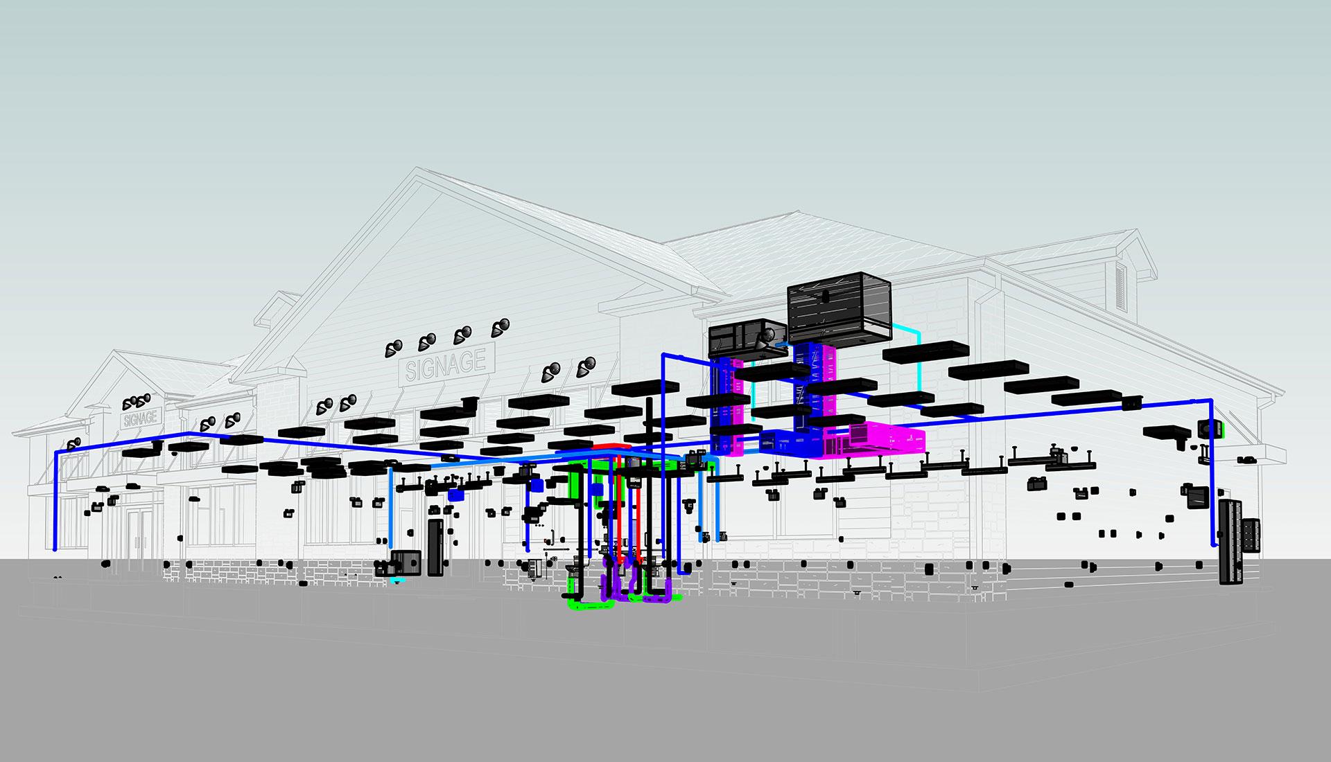 MEP-Revit_Modeling-Silver-lane-Gas-Station-BIM-Project-by-United-BIM