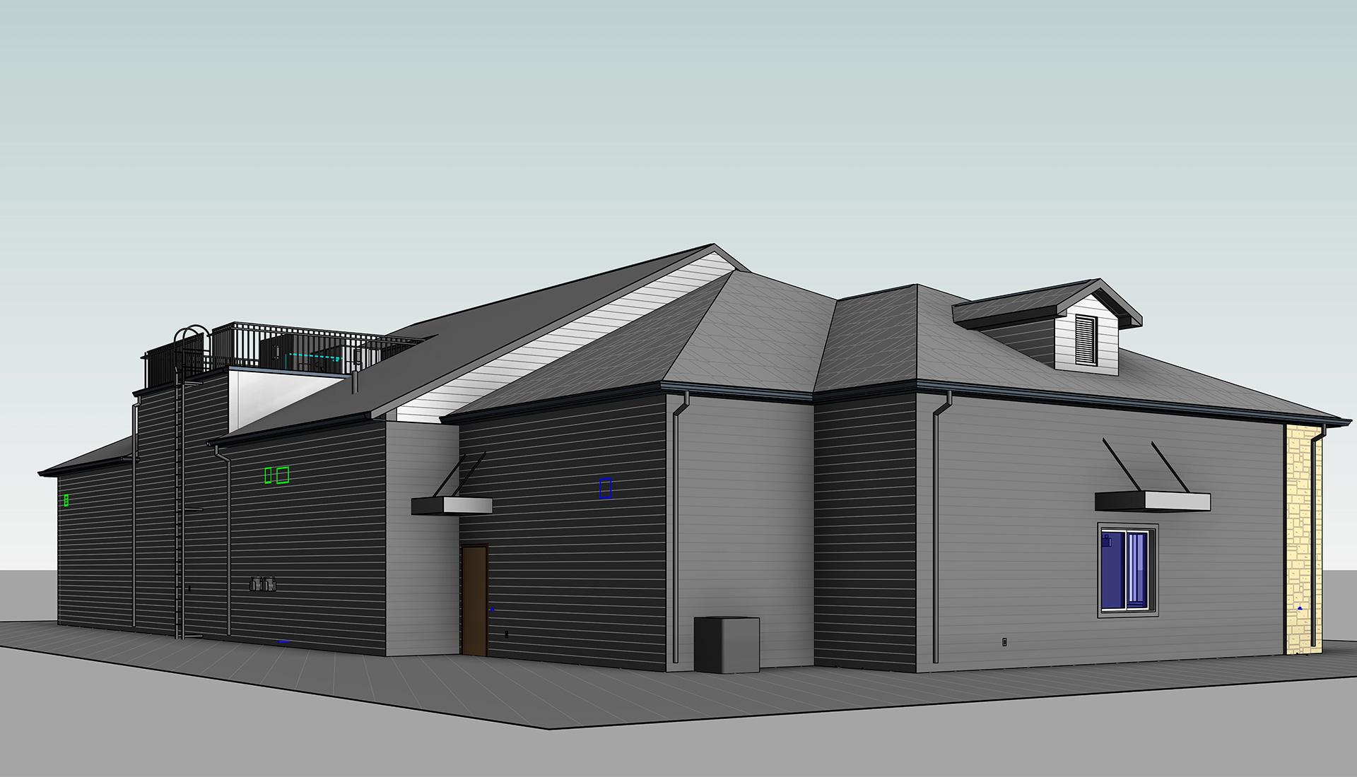 Architectural_Revit_Modeling-Silver-lane-Gas-Station-BIM-Project-by-United-BIM