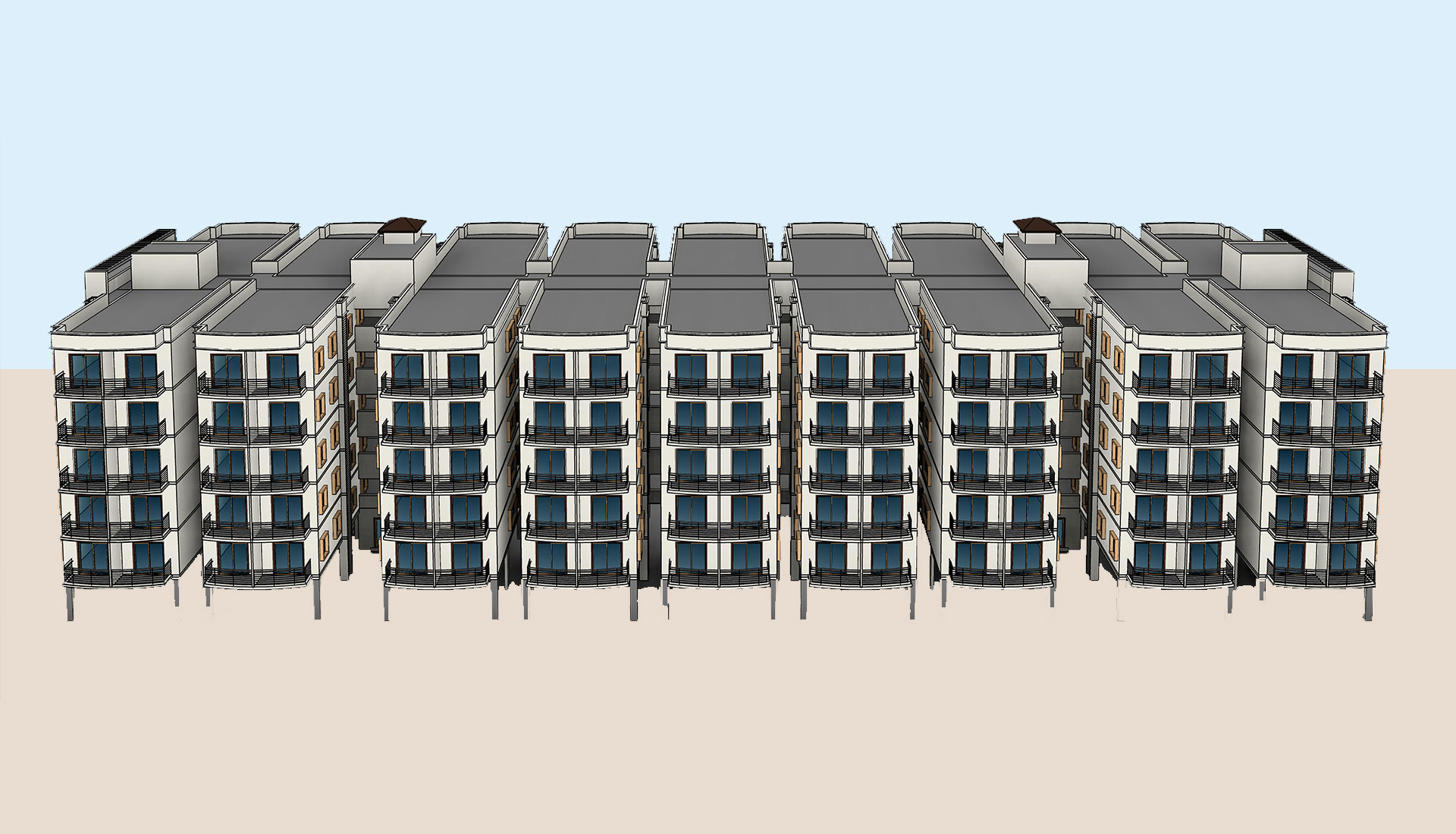 Architecture-3D-Model_Multi-Residential-Apartments_BIM-Modeling-Project-by-United-BIM